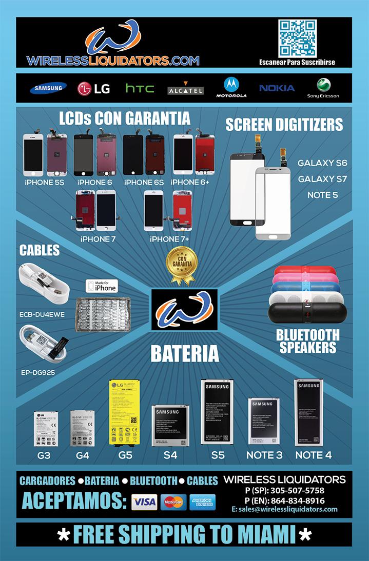 LCDs con Garantia, Screen Digiters, Bluetooth Altavoces, Cables