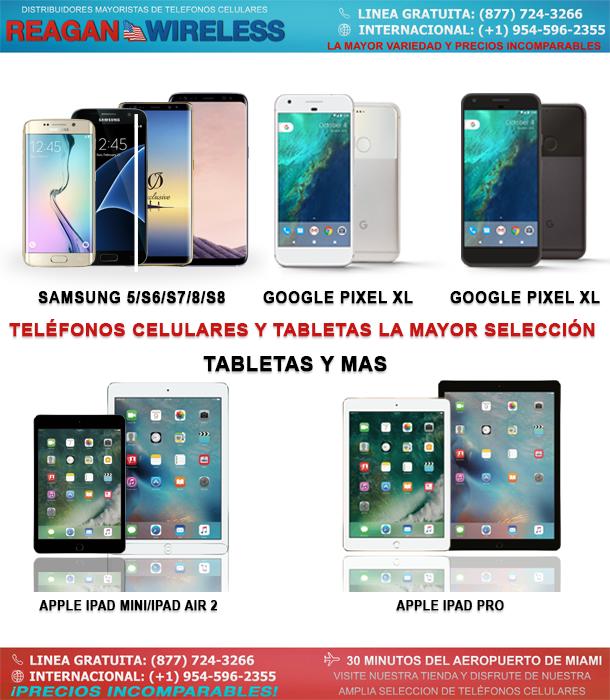 la selección más grande de teléfonos celulares y tabletas
