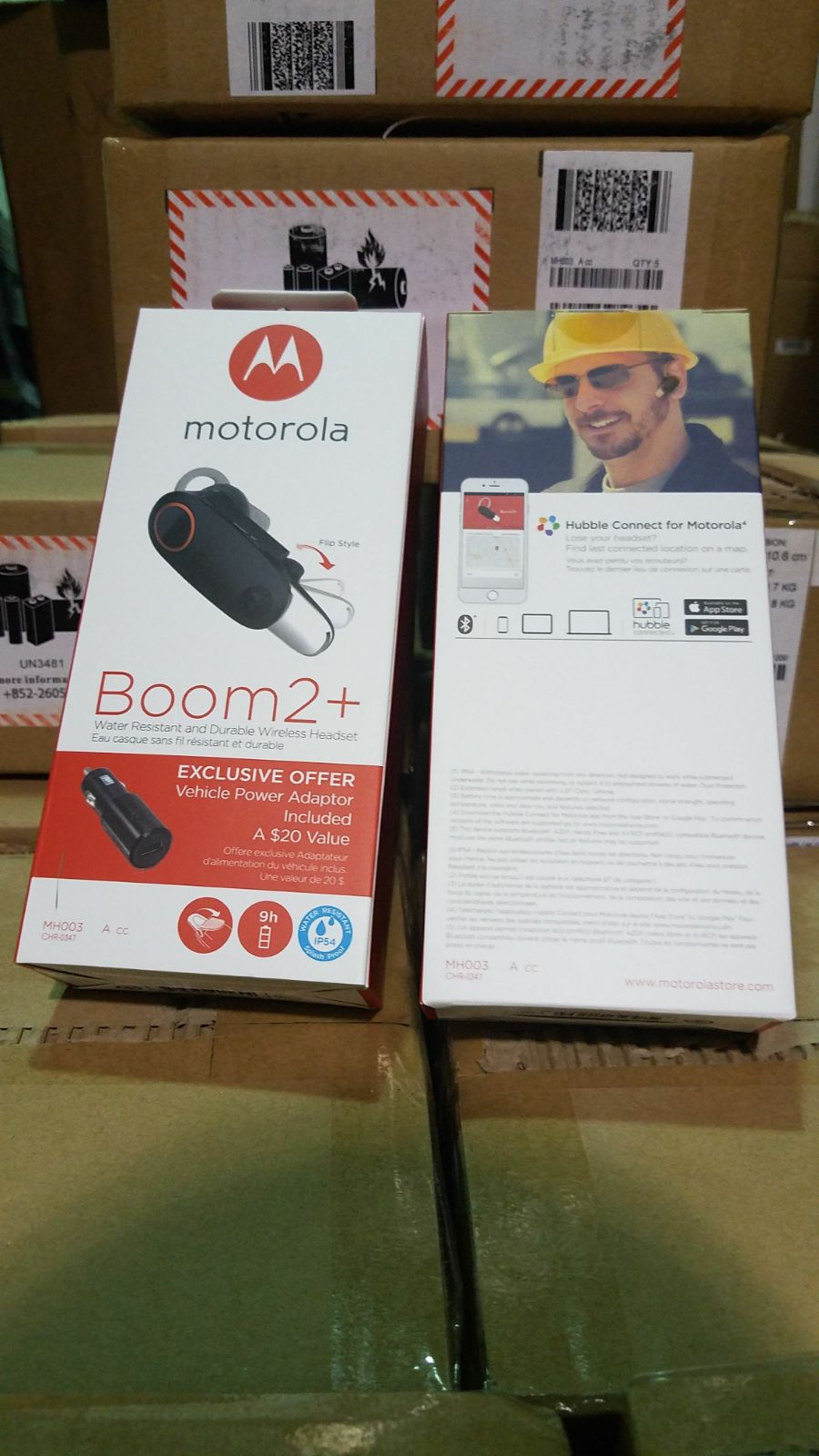 WTS: Motorola Boom2+ Bluetooth Heaset w/2.0A Car Adapter Combo. Specs: 300ft range, IP54 Water Resistant, Over 9hrs talk time. @GLI