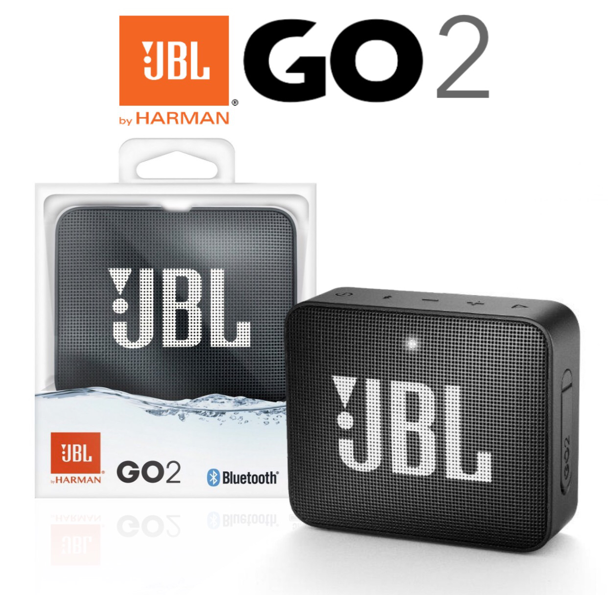 JBL GO 2 - Waterproof Portable Mini Bluetooth Speaker
