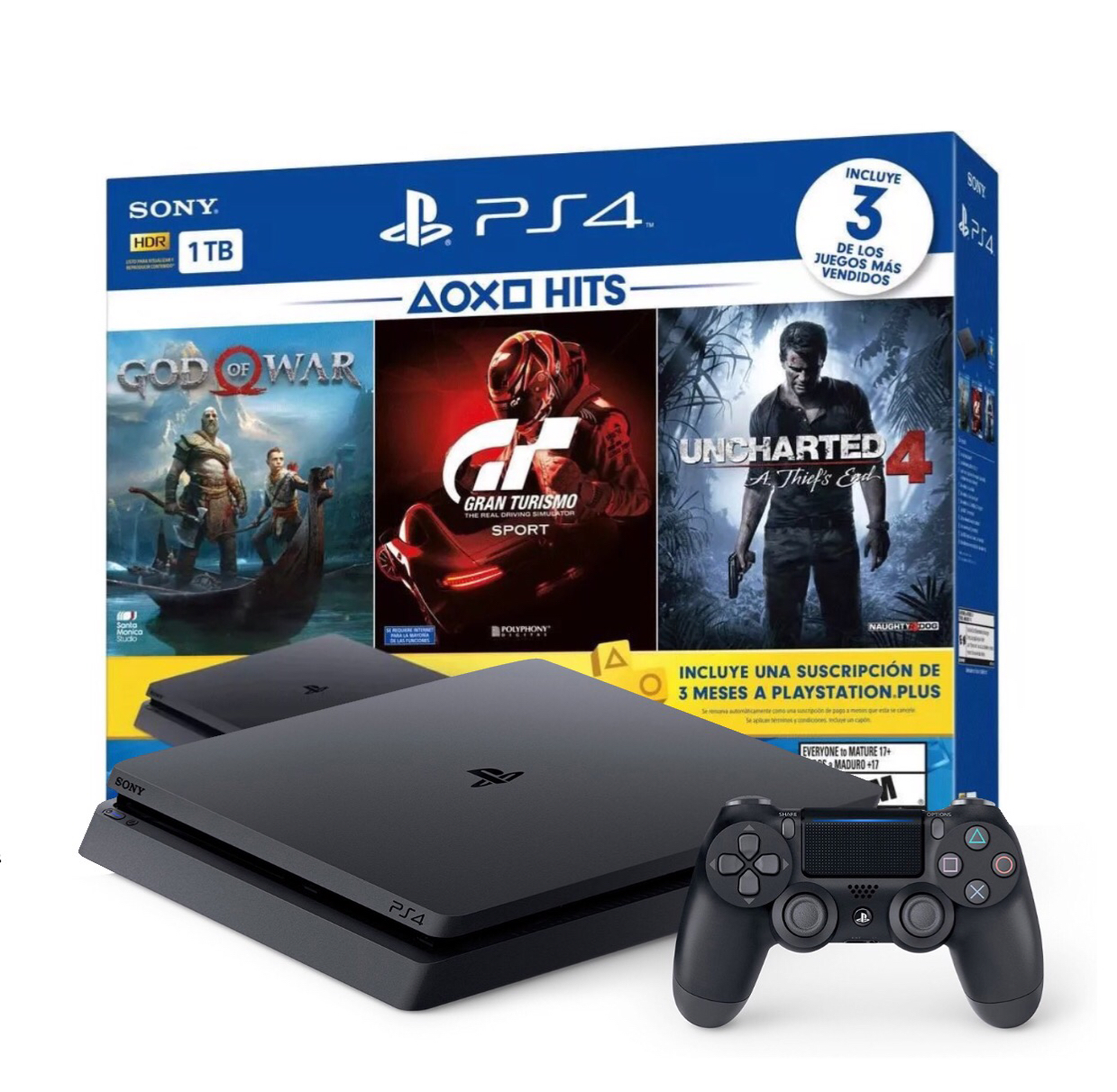 PS4 Slim 1TB Greatest Hits Bundle w/ 3 Games