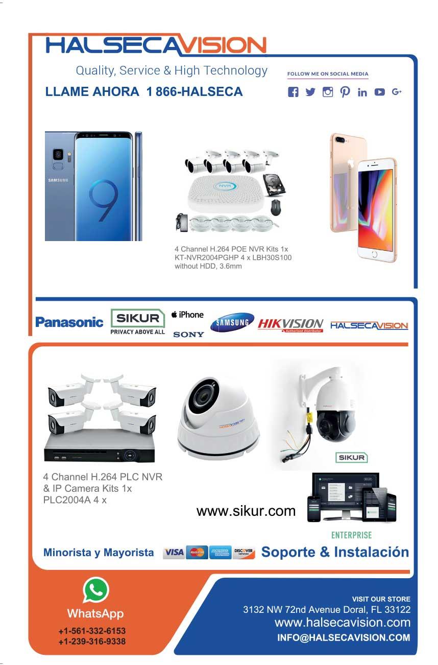 distribuidor de camaras de seguridad, celulares