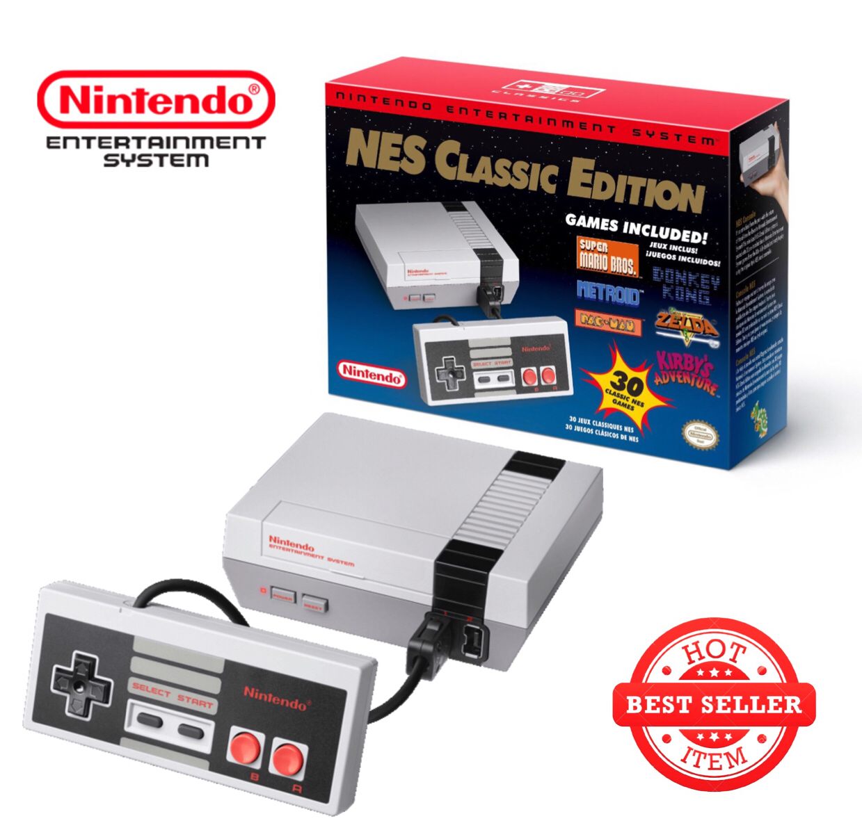 Nintendo NES Classic Edition - Mini Console with 30 Games!
