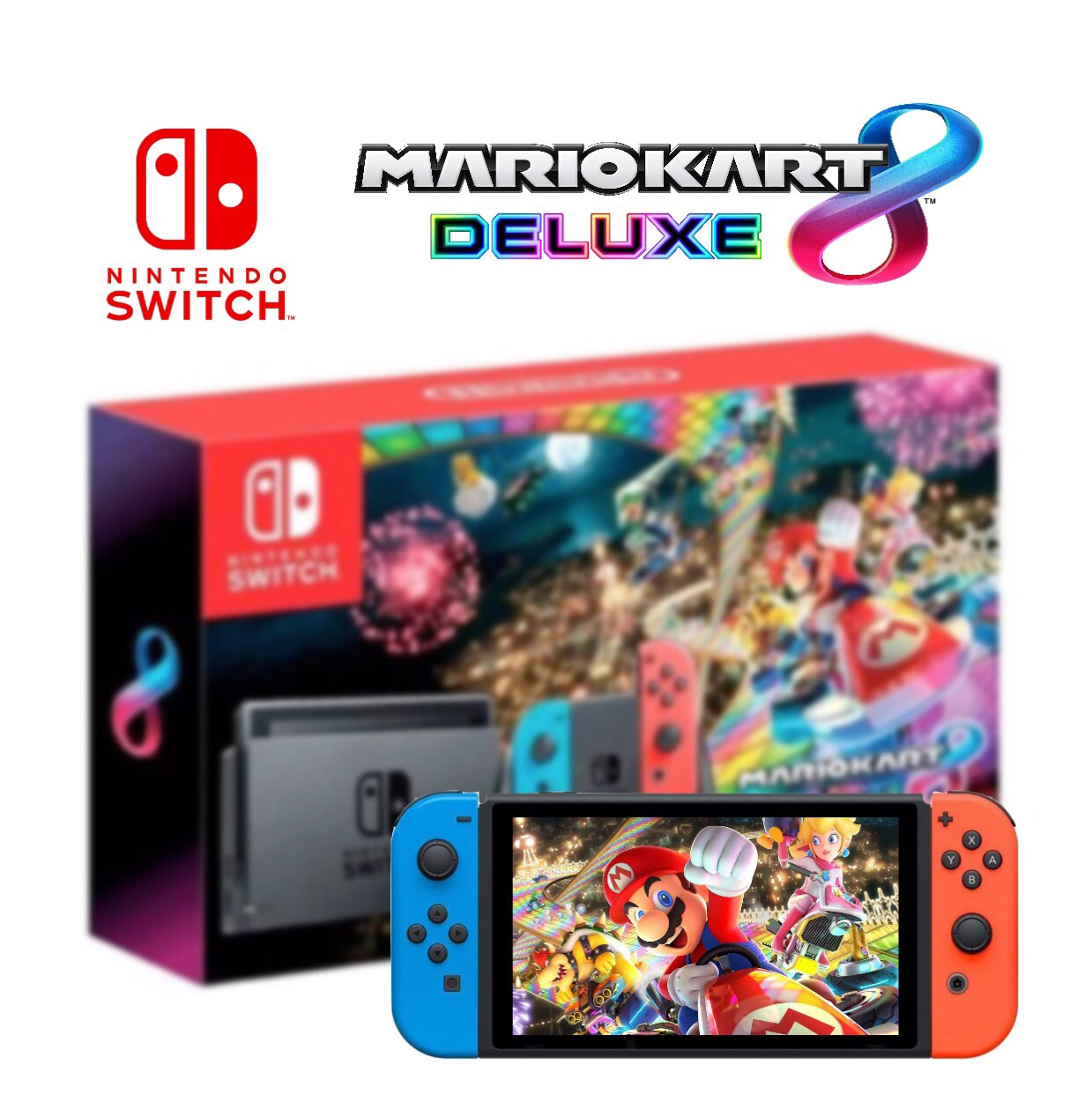 Nintendo Switch with Mario Kart 8 Deluxe Bundle