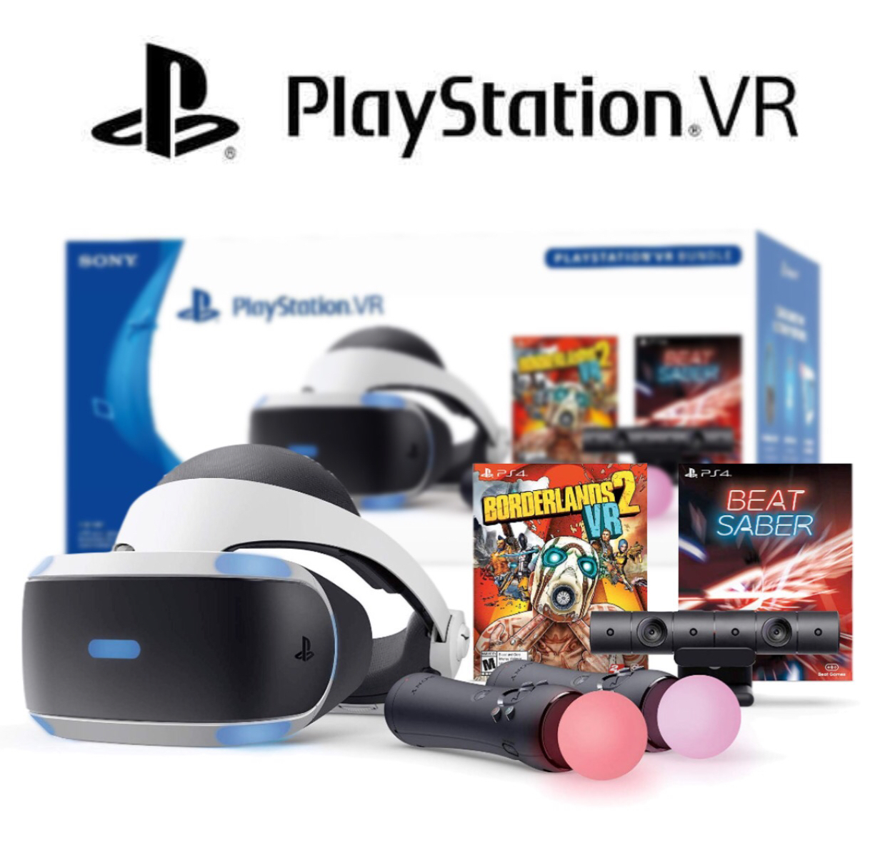 Sony PlayStation VR Borderlands 2 VR and Beat Saber Bundle