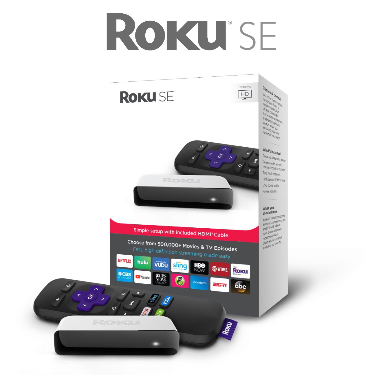 Roku SE (3900SE) Special Edition HD Media Streaming Device