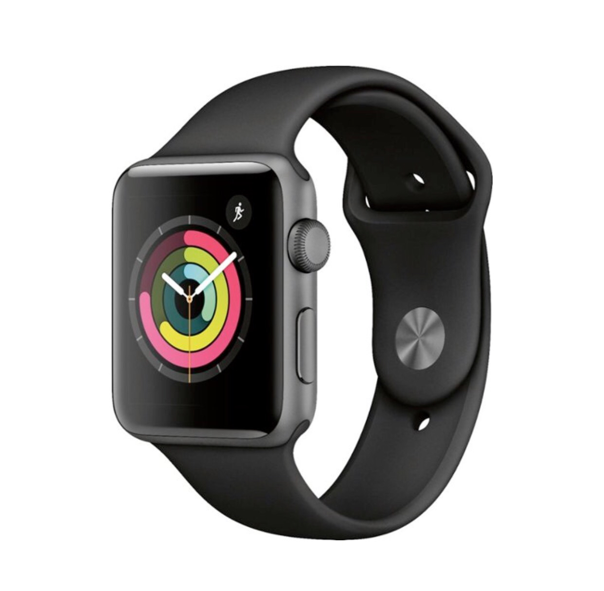 Apple Watch Series 3 (GPS) 42mm Space Gray Aluminum Case - Black Sport Band