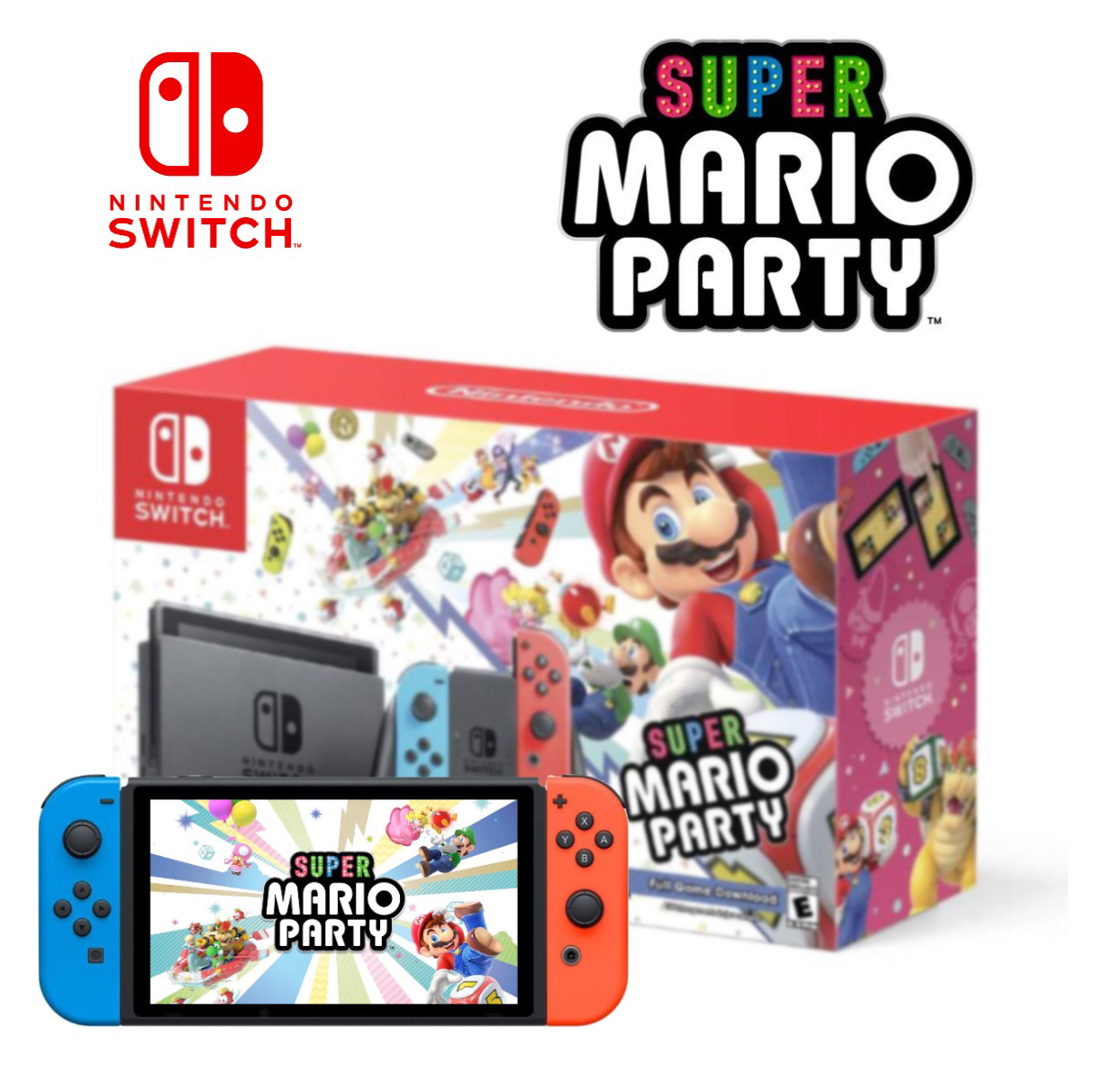 Nintendo Switch Super Mario Party Bundle