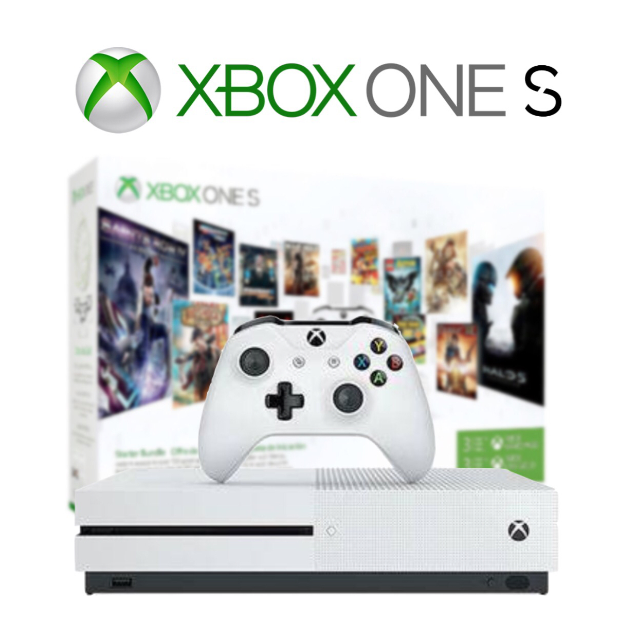 Microsoft Xbox One S 1TB Starter Bundle with 4K Ultra Blu-ray - White