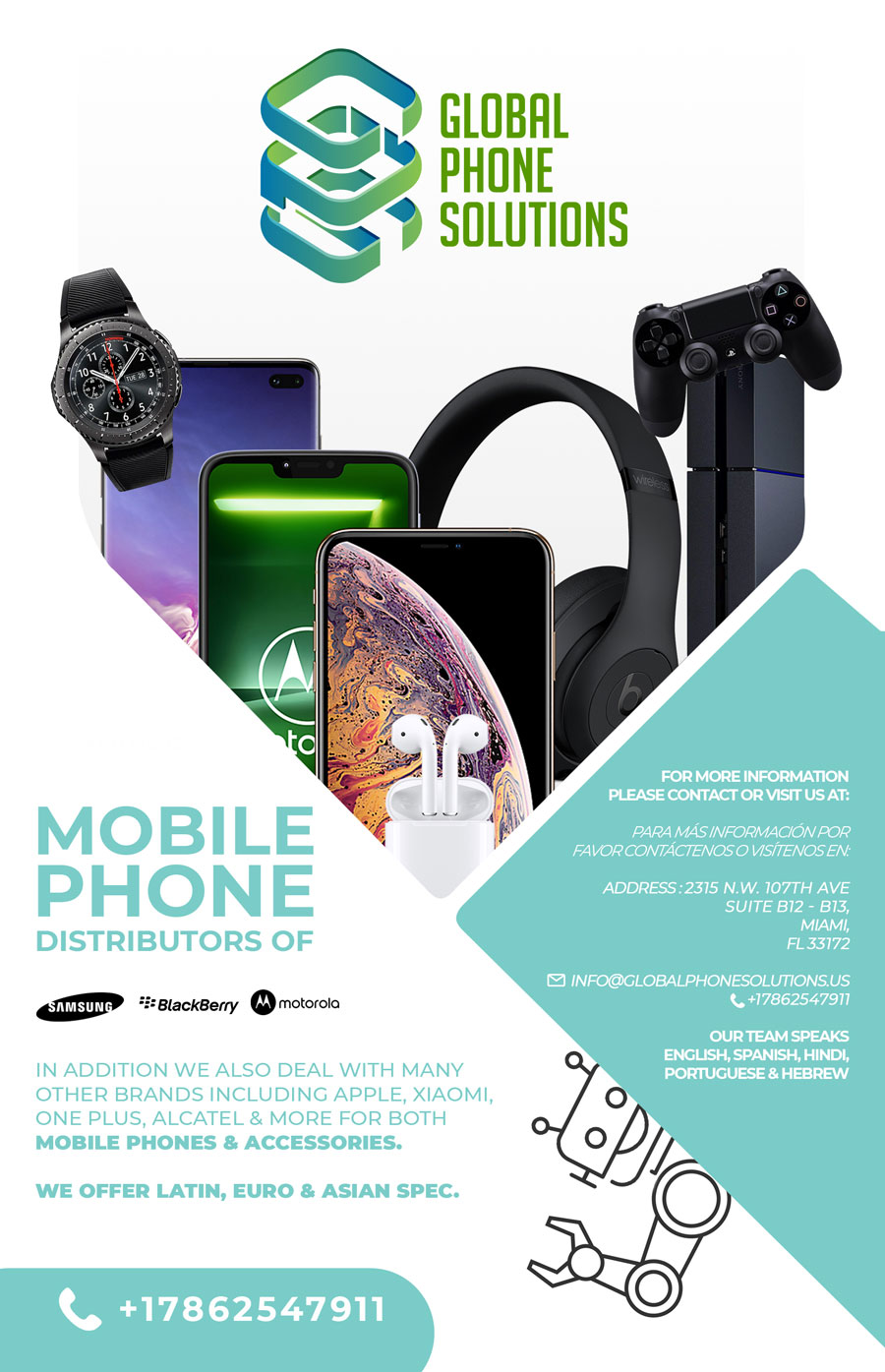 Global Phone Solutions: Distribuidor de Celulares & Accesorios