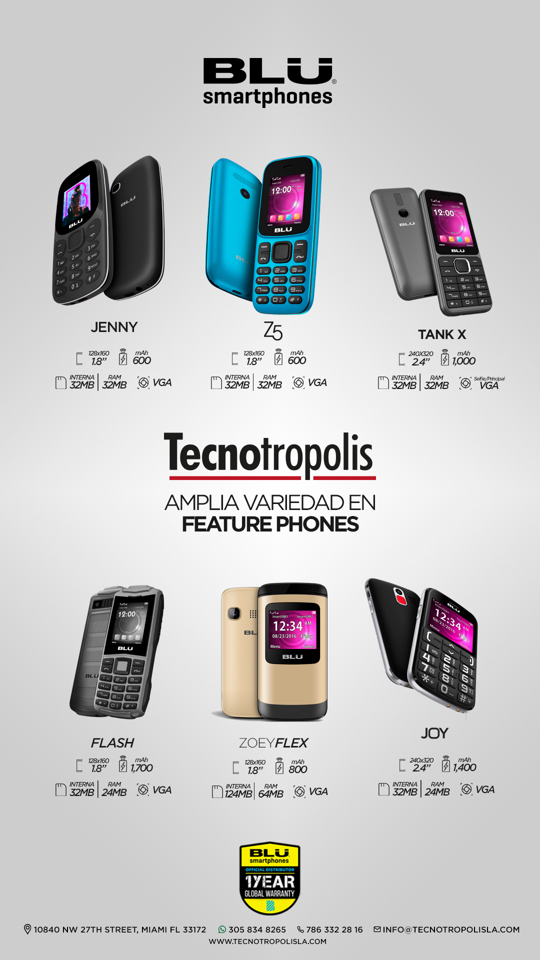 Blu Feature Phones