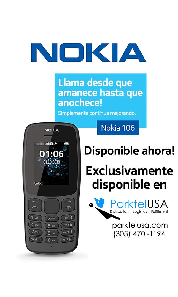Parktel USA: Nokia 106 Disponible Ahora