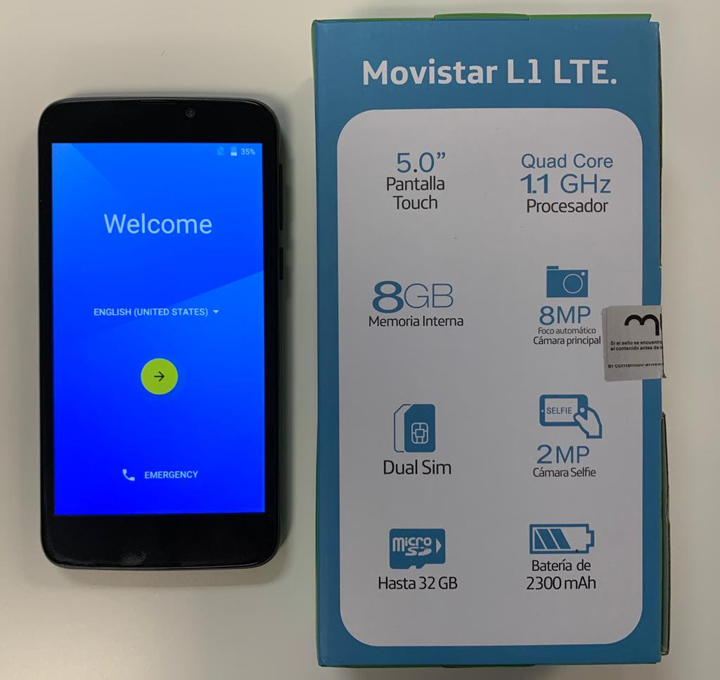 LTE desbloqueado Smart Phone - Movistar L1