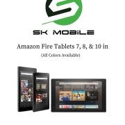 Amazon Fire Tablets- 7 inch, 8 inch & 10 inch