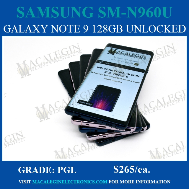 Samsung Galaxy Note 9 for sale ad